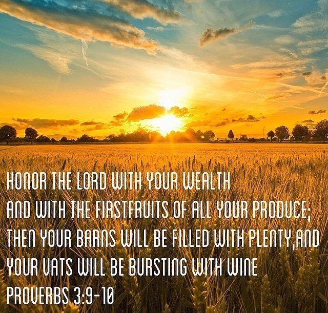 Honoring The LORD With Your First Fruits/Wealth